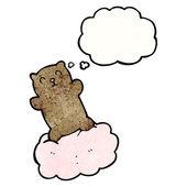 Teddy bear on cloud — Stock Vector