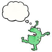 Singing dancing frog — 图库矢量图片