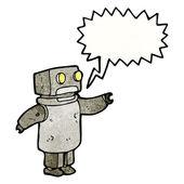 старый робот с мысли пузырь — Cтоковый вектор