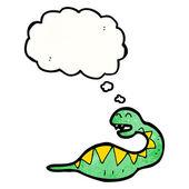 Pregnant snake — Stock Vector