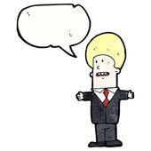 Biznesmen z dużymi włosy — Wektor stockowy