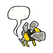 Fat bee — Stock Vector