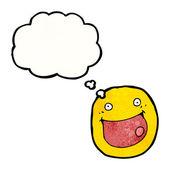 幸せそうな顔の印 — ストックベクタ
