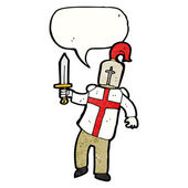 Knight with english flag on chest — Stock Vector