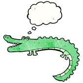 Friendly crocodile — Stock Vector