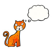 Chat avec bulle de pensée — Vecteur