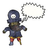 Pirate captain — Stock Vector