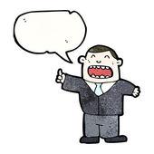 Boss in suit giving orders — Stock Vector