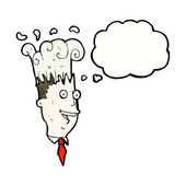 Businessman with exploding head — Stock Vector