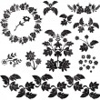 Floral decorative elements — 图库矢量图片