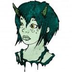 Devil girl — Stock Vector