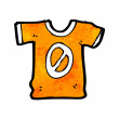 Sports shirt with number zero,    — Stock Vector