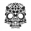Stock Vector: Day of dead skull pattern