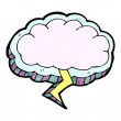 Stock Vector: Thundercloud symbol