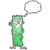 Crazy green monkey — 图库矢量图片