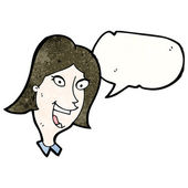 Happy woman talking — Stock Vector
