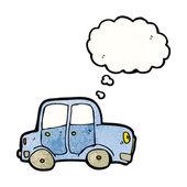 Samochód z dymek — Wektor stockowy
