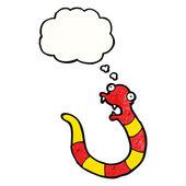 Serpent avec bulle de dialogue — Vecteur