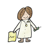 Drawing of a doctor — Stock Vector