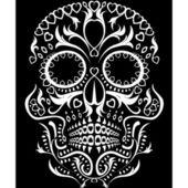 Dag van de dode schedel — Stockvector