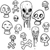 Skulls collection — Stock Vector