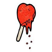 Heart ice lolly — Stock Vector