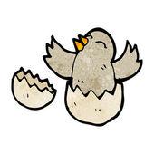 Ptak laska wyrwanie się z jaj — Wektor stockowy