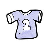 Sports shirt with number two — Vector de stock