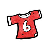 Sports shirt with number six — Vector de stock