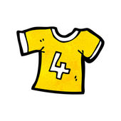 Sports shirt with number four — Vector de stock