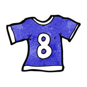 Sports shirt with number eight — Vector de stock
