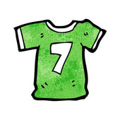 Sports shirt with number seven — Stockvektor