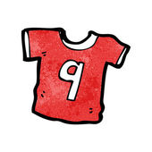 Sports shirt with number nine — Vector de stock