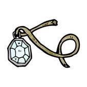 Ancient diamond pendant — Stock Vector