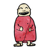 Laughing Buddhist monk — Stock Vector