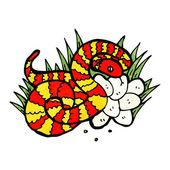 Snake in nest of eggs — Stock Vector