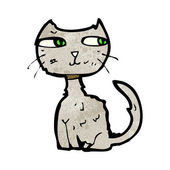 Scruffy cat — Stock Vector