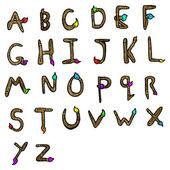 Pędzel w kształcie litery alfabetu — Wektor stockowy