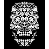 Day of the dead skull pattern — Stock Vector