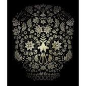 Day of the dead skull pattern — Stock Vector