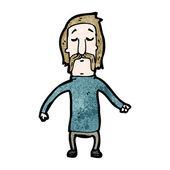 Mustache man — Stock Vector