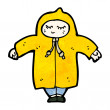 Person in raincoat — Imagen vectorial