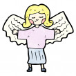 cartoon angel — Vector de stock