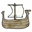 Viking ship — Stockvectorbeeld