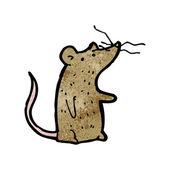 Mouse con naso nervosa — Vettoriale Stock