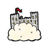 Castle in the sky — Stock Vector