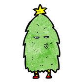 Christmas tree character — Stock Vector