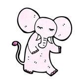 Pink elephant — Cтоковый вектор