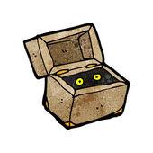 Spooky monster in box — Stock Vector