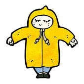 Person in raincoat — Stock Vector